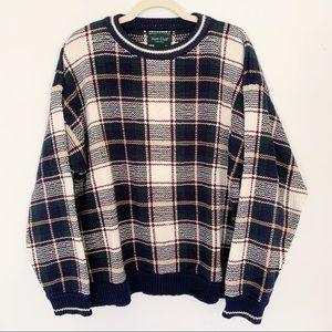Vintage   Plaid Grandpa Sweater